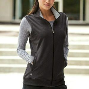 Adidas Black Heather Gray Full Zip Club Vest